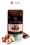 Lubrifiant comestible chocolat-noisette