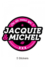 Pack 5 stickers J&M n°2