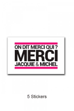 Pack 5 stickers J&M n°3