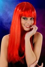 Perruque cheveux longs Rouge