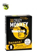 3 Préservatifs Crazy Monkey Banane