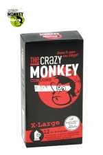 12 Préservatifs Crazy Monkey X-Large