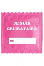 Préservatif humour - Je Suis Célibataire Rose