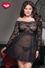 Robe lingerie Beauty - Grande taille